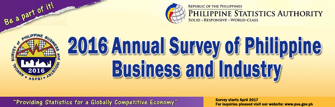 ASPBI 2016 Annual Survey of Philippine Business and  Industry